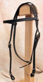 Horse Size Beta Headstall - Black
