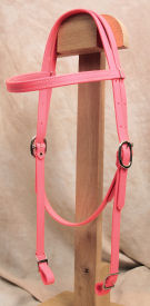 Horse Size Beta Headstall - Pink
