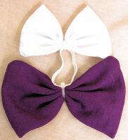 Mini Tail Bow Purple & White