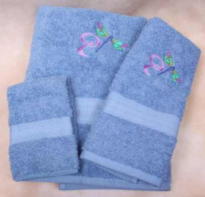 Dragonfly Swirl Bath Towels