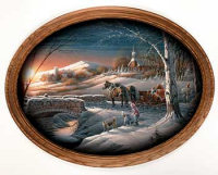 Almost Home Framed Oval Art - Terry Redlin