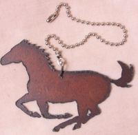 Metal horse fan pull