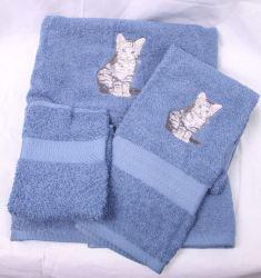 Tiger Stripe Cat Towel Set
