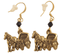 Horse and cart earrings