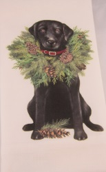 Black Labrador Wreath