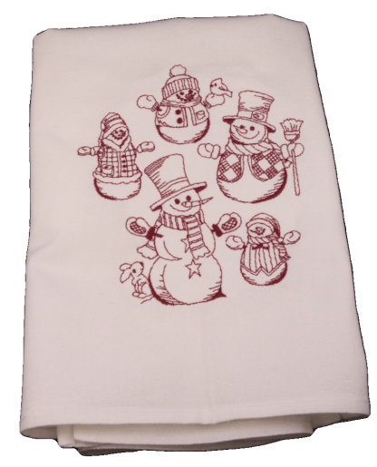 Snowman Collage Dish Towel