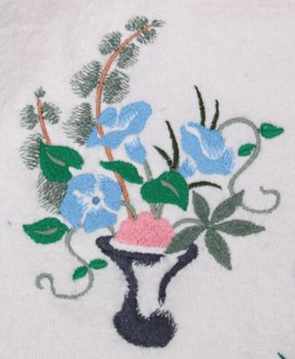 Embroidered Floral Bath Towels