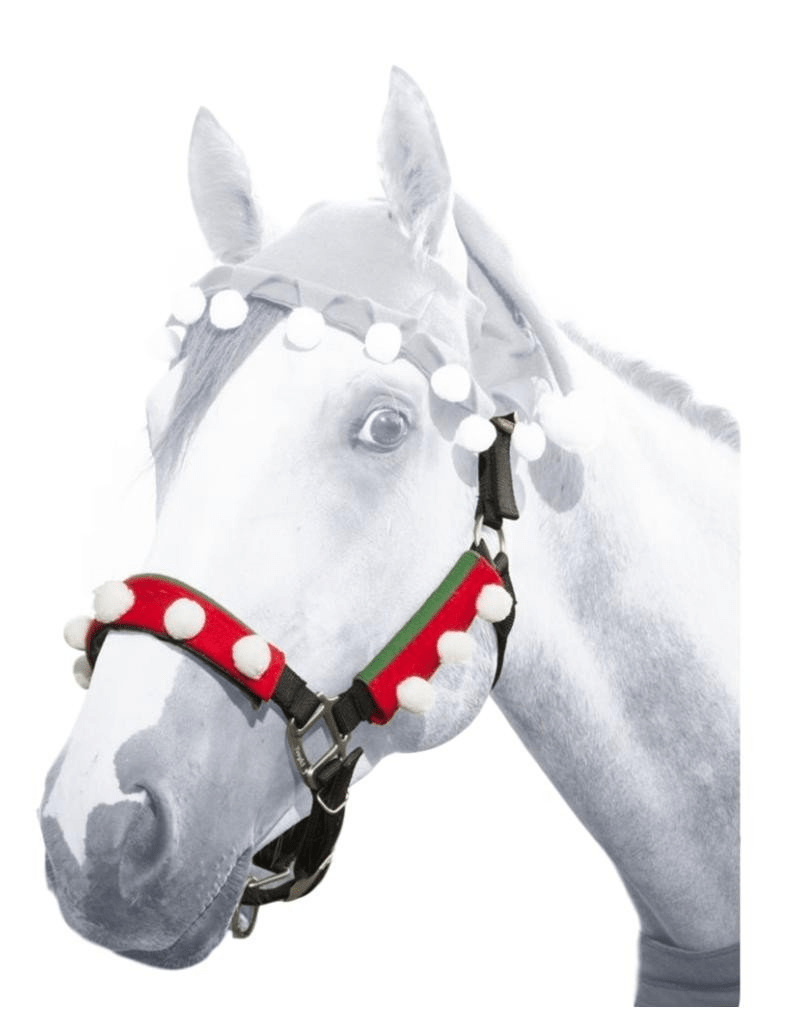 Christmas Horse Tack.Tough 1 Christmas Holiday Elf Three Piece Horse Halter Set