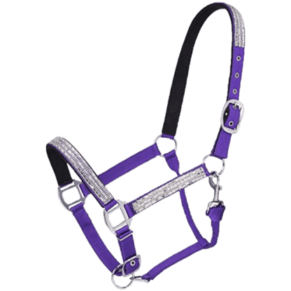 Purple Halter with Crystal Accents