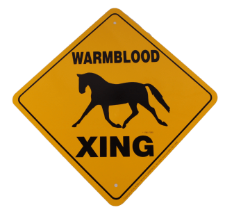 Warmblood Horse Crossing Sign