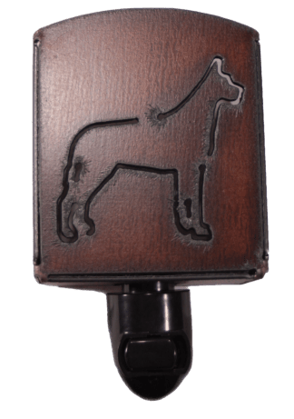 Universal Ironworks Rustic Metal Great Dane Dog Night Light