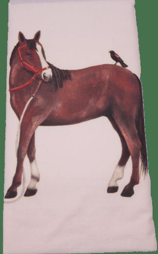 Mary Lake-Thompson Bay Horse and Bird Flour Sack Dish Towel