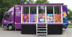 The new NDCS Roadshow Bus will be in Northern Ireland at the end of September and early October and will visit sites across Northern Ireland. This offers hands on experience of the most up to date information and technology available to deaf young people and their families and provides workshops and deaf awareness training for hearing peers and education professionals.