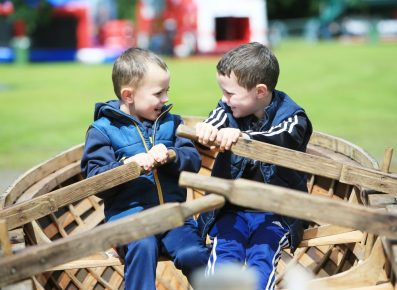 River 2 Lough Festival. pictured: Luke (7) and Thomas (5) Hawe from Magherafelt JC16
