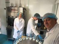 Water bottling at Acceptable Enterprises. L-R Olivia Cosgrove, Chris Campbell, David Hunter.