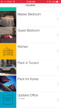 I've used Sortly folders to organize the move to rooms