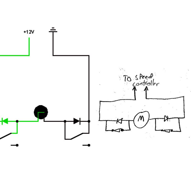 Two way servo motor limit switch for slider motor setup