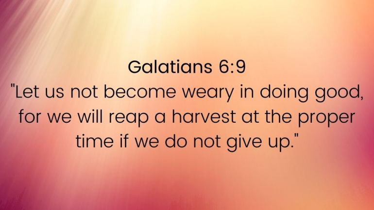 Bible Verses About Not Giving Up Images
