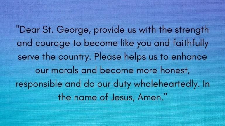 St George Prayer Images