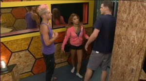 Big Brother 16 Houseguests Frankie, Paola, and Derrick (CBS)