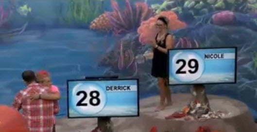 Big Brother Houseguests Nicole and Derrick (CBS)