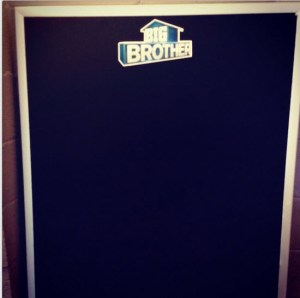Big Brother Cast board