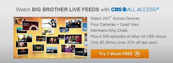 Big Brother Live Feeds Week Free Banner