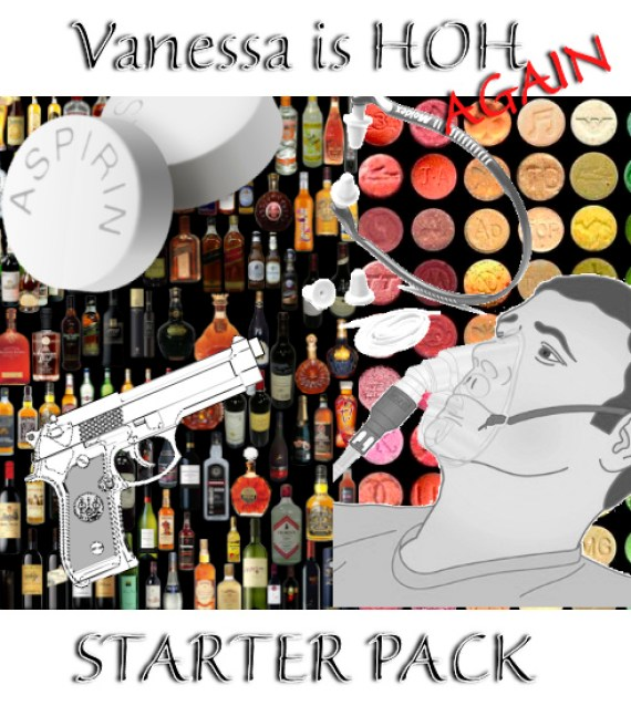 "To help you get through the week, a ""Vanessa is HOH Starter Pack!"""