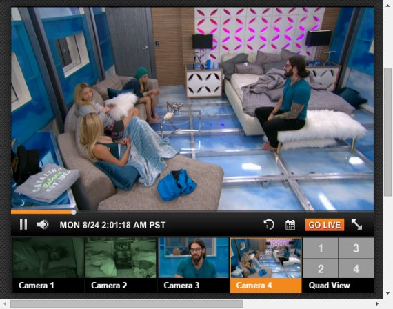 Big Brother Live Feeds August 24