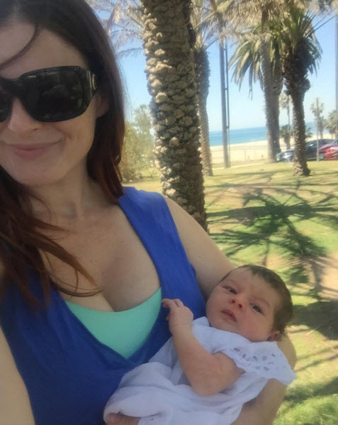 Big Brother star Rachel Reilly and baby Adora (Instagram)