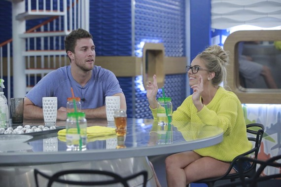 Corey Brooks and Nicole Franzel on the CBS series BIG BROTHER, scheduled to air on the CBS Television Network. Photo: Bill Inoshita/CBS ©2016 CBS Broadcasting, Inc. All Rights Reserved