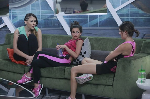 Tiffany Rousso, Natalie Negrotti and Bronte D'Acquisto on the CBS series BIG BROTHER, scheduled to air on the CBS Television Network. Photo: Bill Inoshita/CBS ©2016 CBS Broadcasting, Inc. All Rights Reserved