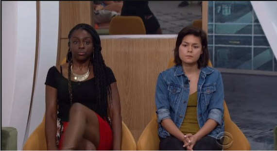 Big Brother 18 houseguests Da'Vonne Rogers and Bridgette Dunning (Source CBS)