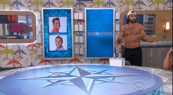 BB18-Corey Brooks and Paulie Calafiore, Victor Arroyo