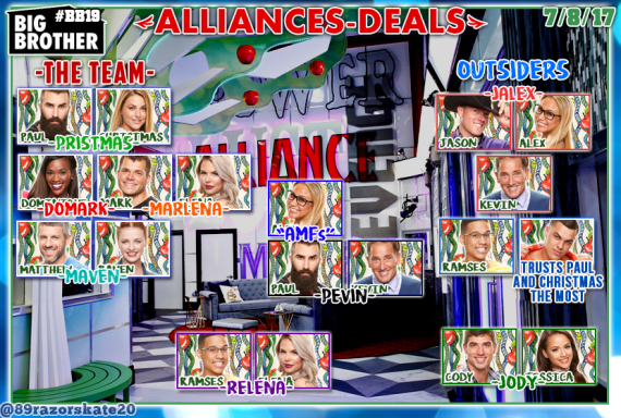 Week Two Big Brother 19 Alliance Updates