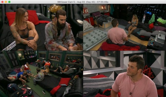 Big Brother 19 Christmas Abbott, Paul Abrahamian, Mark Jansen, and Alex Ow