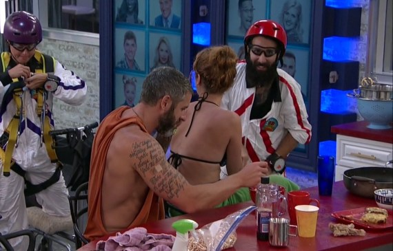 Big Brother 19 Christmas Abbott, PAul Abrahamian, Raven Walton, and Matt Clines