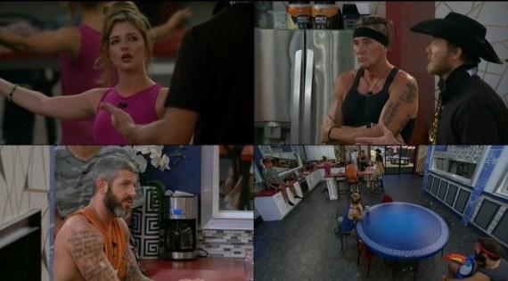 Big Brother 19 Raven Walton, Matt Clines, Kevin Schlehuber, Jason Dent