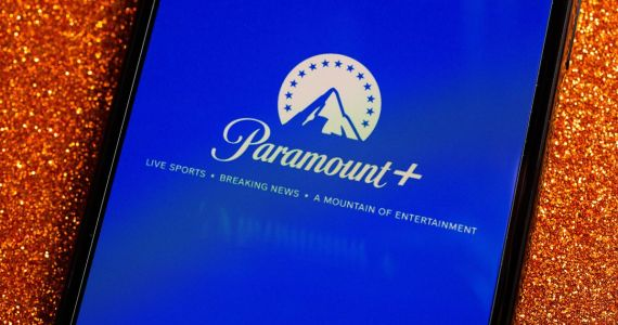Paramount Plus logo on tablet