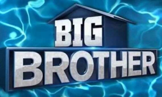 Big Brother logo with water behind it