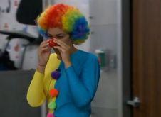 Candice as a clown 02