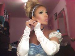 GinaMarie dresses up as Cinderella