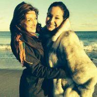 Elissa and Jessie on the beach