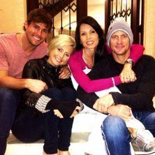 Hayden Moss & Survivor friends on New Year's