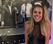 Ashley Iocco as a sexy cat for Halloween
