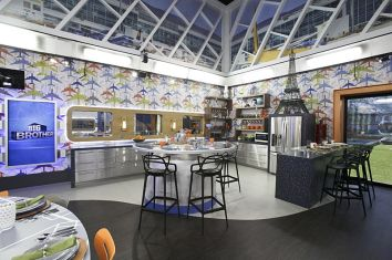 Kitchen view of Big Brother 18 house