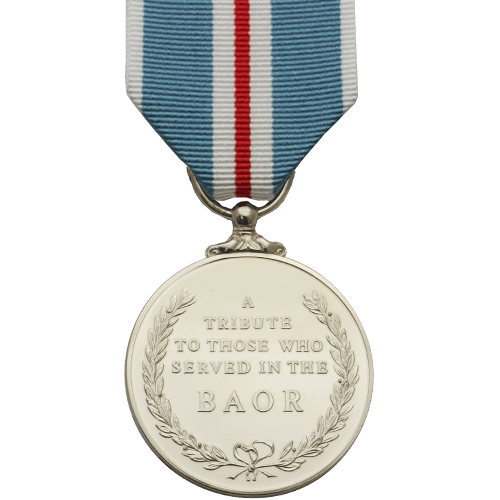 British Army Of The Rhine Medal Commemorative Reverse
