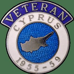 Cyprus Veterans Badge Enamelled
