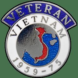 Vietnam Veterans Badge Enamelled