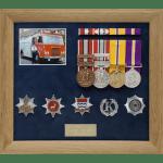 Military Medal Display Frame Study-Fireman West